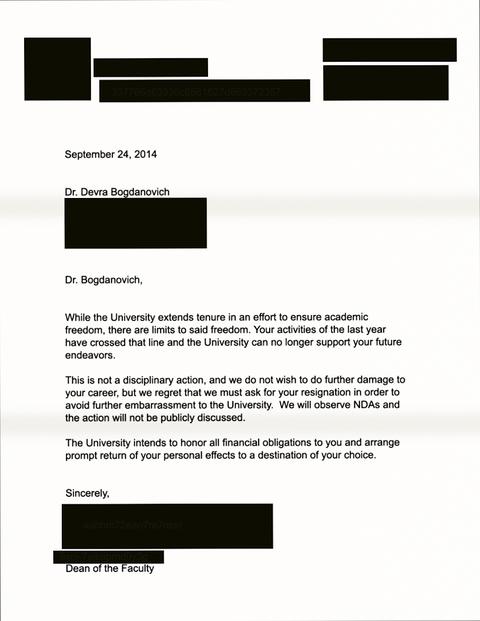 デブラに対する辞任勧告