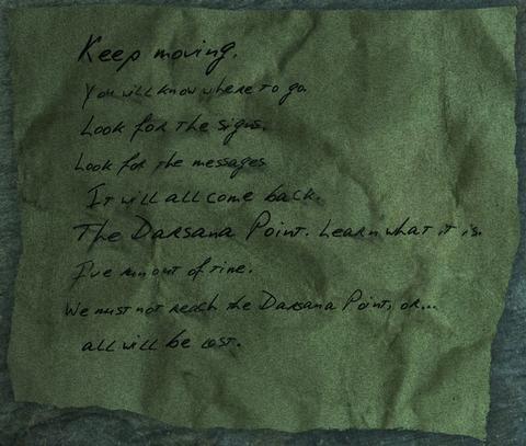 自らに宛てたメモ書き