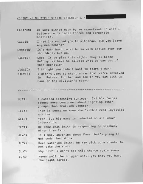ロラゾンとカルビン、グラスとイリヤの会話「痕跡」
