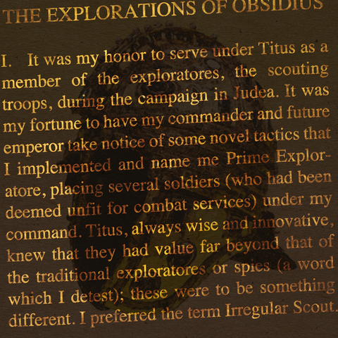 オブシディウスの探検:第一節
