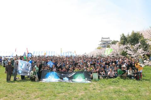ミッションデイ関宿城さくら祭りの様子