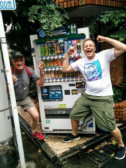 欧州エージェントが伊藤園自販機を見つけると