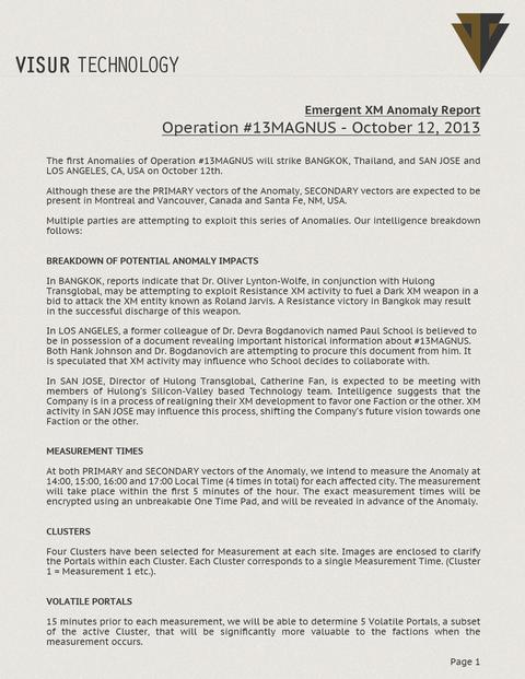 オペレーション・サーティンマグナス:戦績基準