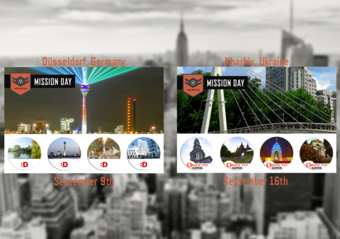 ミッションデイ:9月の欧州開催都市