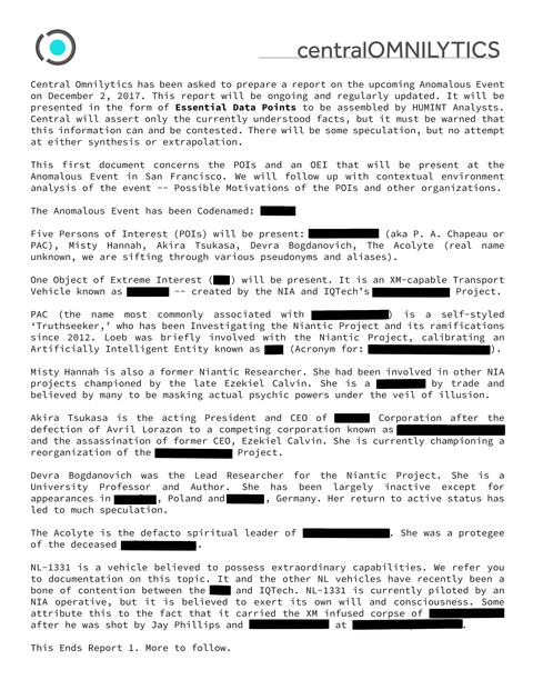 アノマラスイベント報告書(1)