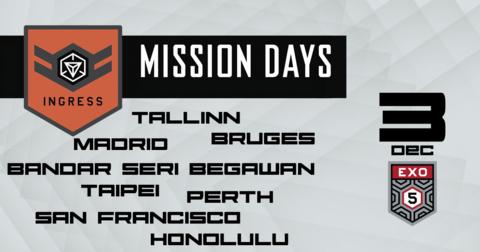 エクソファイブ:ミッションデイ開催都市について