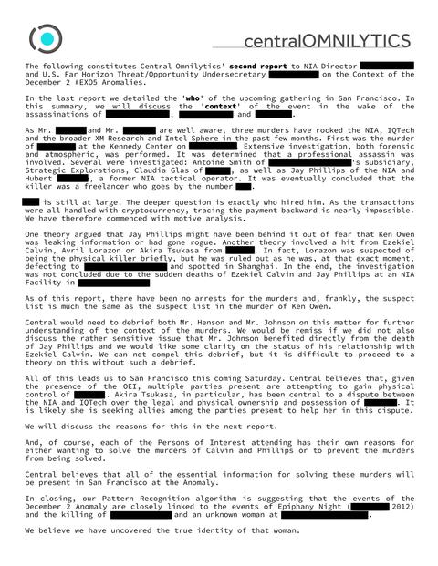 アノマラスイベント報告書(2)
