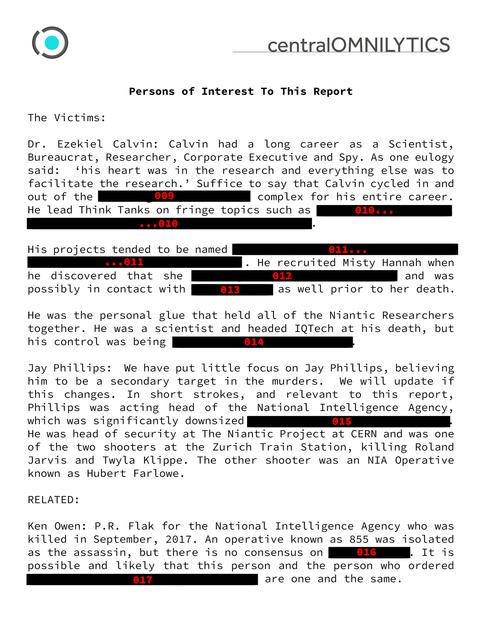 黒塗りされた報告書(2)