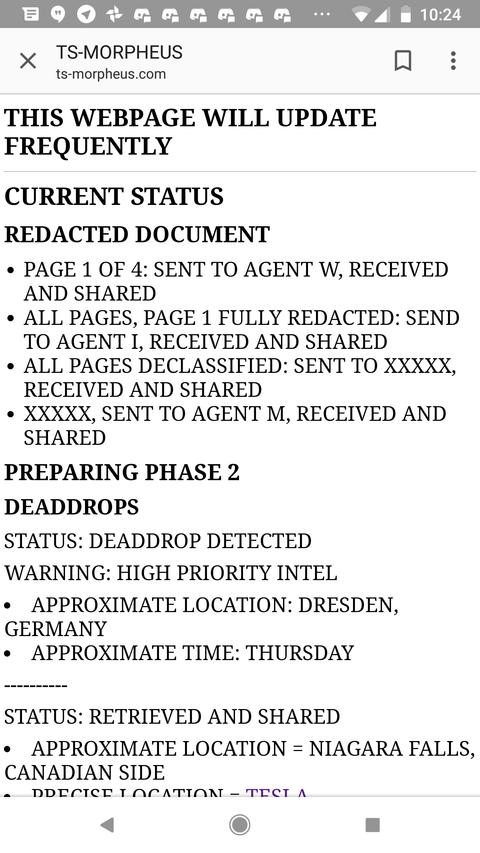 モルフェウス(16):機密解除文書の存在