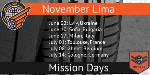 ミッションデイプラス:欧州日程