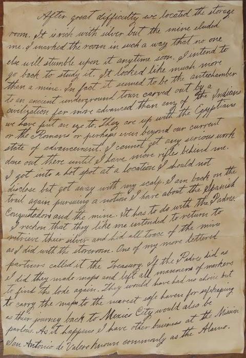 ジム・ボウイの手紙(1)