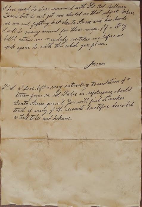ジム・ボウイの手紙(2)