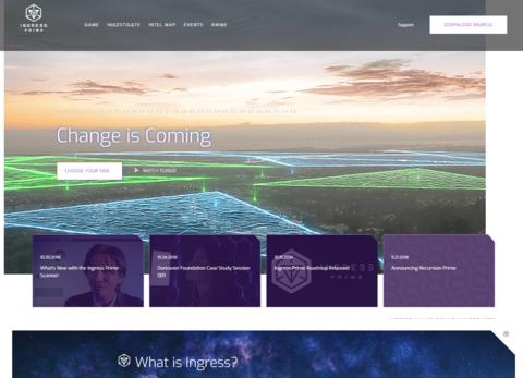 イングレス公式サイトの刷新