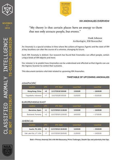 国家情報局 機密情報:XMアノマリー