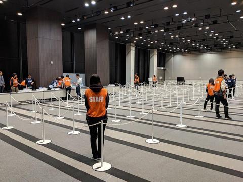 ダルサナプライム:東京受付会場設営