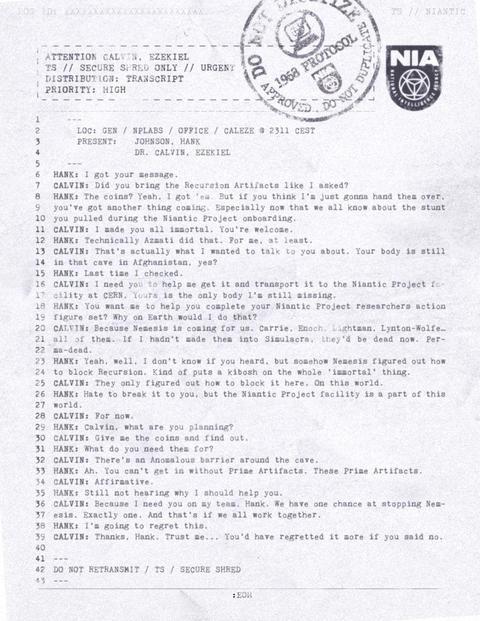 アバドンプライム:アムステルダム文書(2)