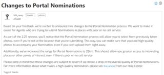 ポータル・ノミネーション:既存写真の利用と推薦範囲の拡大