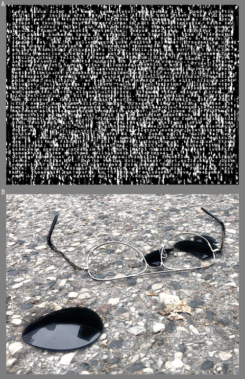 砕かれた片割れのサングラス