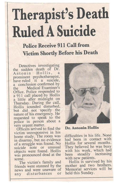 ホリスの死亡記事