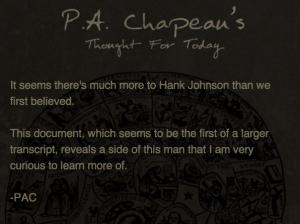 ハンク・ジョンソンとは何者か