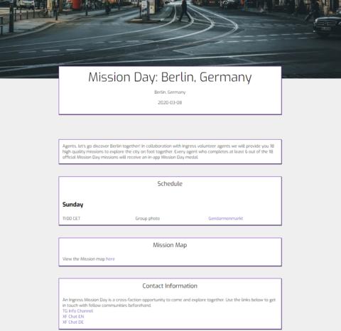 ミッションデイ・ベルリン:開催告知