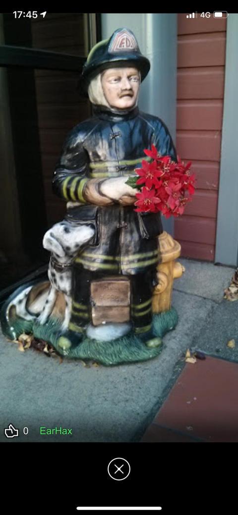 消防士の像