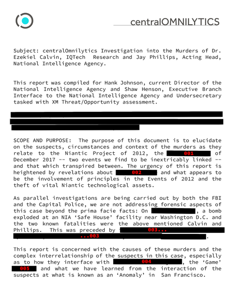 黒塗りされた報告書(1)