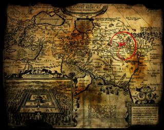 オルテリウスの東征地図