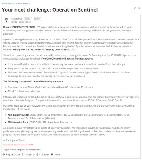 次なる挑戦:オペレーション・センティネル(2)